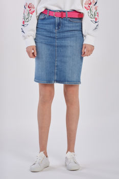 SZOKNYA GANT D1. BLUE DENIM SKIRT