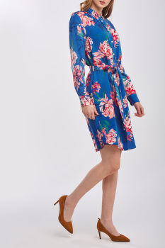 RUHA GANT D1. PEONIES PRINT SHIRT DRESS