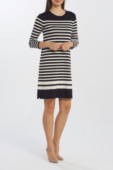 RUHA GANT D1. STRIPED SHIFT DRESS