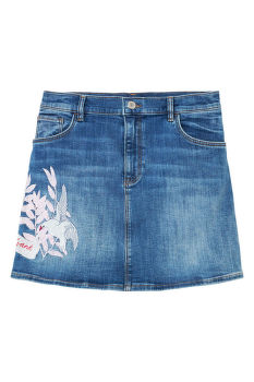 SZOKNYA TG. DENIM EMBROIDERED SKIRT