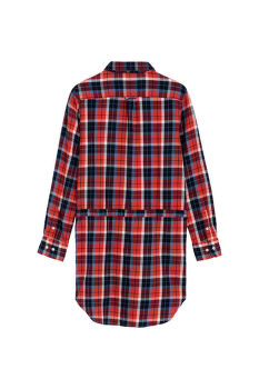 TG. FLANNEL CHECK SHIRT DRESS