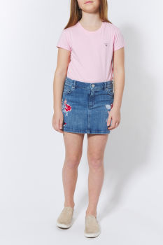 SZOKNYA GANT TG. EMBROIDERED DENIM SKIRT