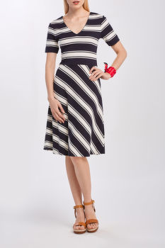 RUHA GANT D2. STRIPED V-NECK DRESS