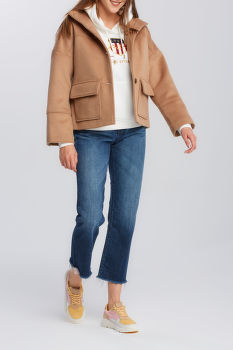 DZSEKI GANT D1. WOOL BLEND CROPPED JACKET