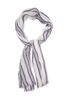 SÁL GANT D2. STRIPED COTTON LINEN SCARF