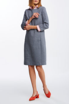RUHA GANT HERRINGBONE JERSEY SHIFT DRESS