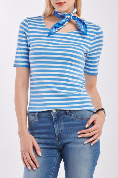 PÓLÓ GANT STRIPED 1X1 RIB SS T-SHIRT