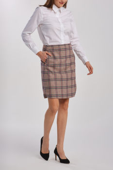 SZOKNYA GANT D1. WASHABLE CHECK STR WOOL SKIRT