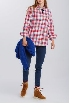 ING GANT D2. FLANNEL CHECK RELAXED SHIRT