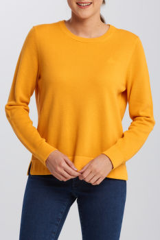 KARDIGÁN GANT COTTON PIQUE C-NECK