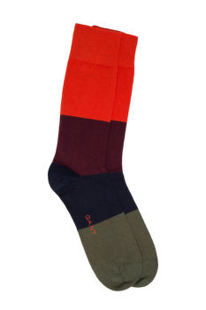 ZOKNI GANT O1. COLOR BLOCK SOCKS
