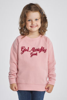 MELEGÍTŐ GANT D1.GIRL ALMIGHTY C-NECK SWEAT