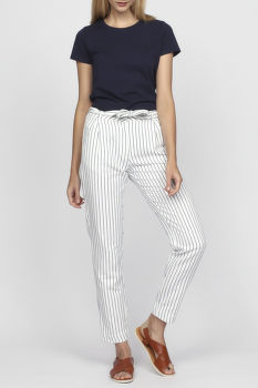 Nadrág GANT O2. STRIPED LINEN PANTS