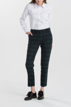NADRÁG GANT O1.WASHABLE BLACK WATCH PANTS