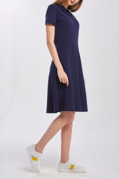 RUHA GANT D1. FRENCH DOT DETAIL SS DRESS