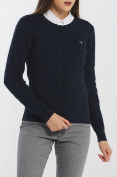 KARDIGÁN GANT STRETCH COTTON CABLE CARDIGAN
