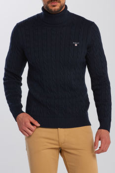 KARDIGÁN GANT COTTON CABLE TURTLE NECK