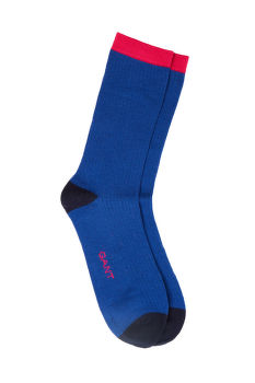 ZOKNI GANT D1. 1-PACK COLOR BLOCK RIB SOCKS