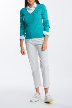 KARDIGÁN GANT STRETCH COTTON CABLE V-NECK