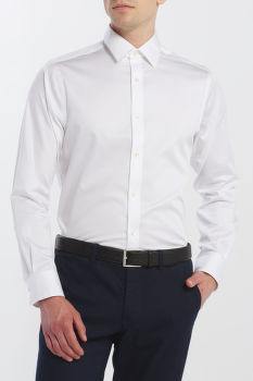 ING GANT STRETCH PLAIN SATEEN SLIM TOWN