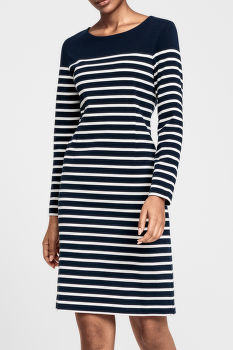 RUHA GANT O2. STRIPED SHIFT DRESS