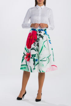 SZOKNYA GANT O2. PLEATED GARDEN PARTY SKIRT