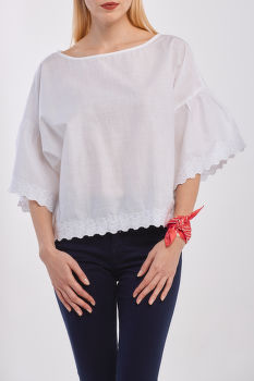 ING GANT D2. EMBROIDERY TOP