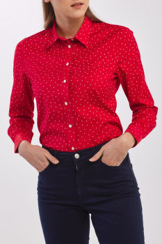 ING GANT D1. FRENCH DOT STRETCH BROADCLOTH
