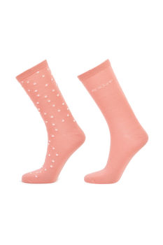 ZOKNI GANT D1. 2 PACK DOT AND SOLID SOCK