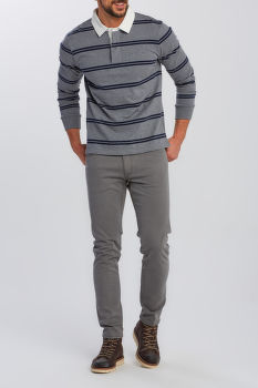 PÓLÓ GANT D1. DOUBLE STRIPE HEAVY RUGGER
