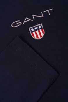 PÓLÓ GANT D1. MEDIUM SHIELD LS T-SHIRT
