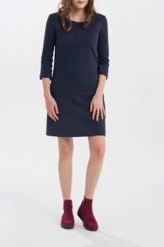 RUHA GANT HERRINGBONE JERSEY A-LINE DRESS