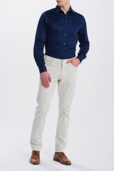 FARMER GANT O1. TAPERED SATIN JEANS