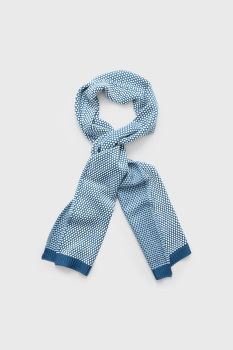 SÁL GANT D1. BI COLOR KNIT SCARF